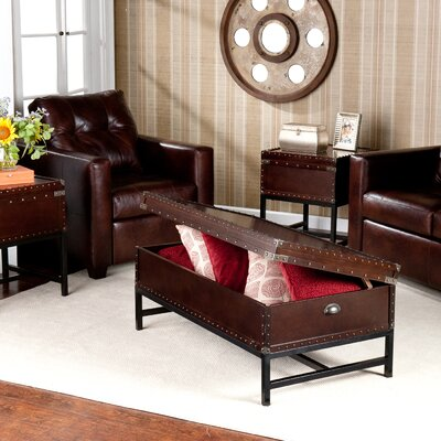 wildon home southport 3 piece trunk coffee table set reviews