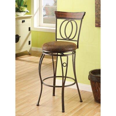 "Wildon Home ® Tavio 29"" Swivel Bar Stool with Cushion"