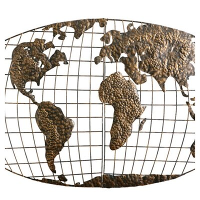 Wildon Home ® Wallworth Wall Mounted World Map Sculpture