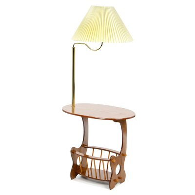 Edmonds Swing Arm Brass Lamp End Table by Wildon Home ®