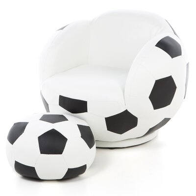 Kid's Soccer Ball Chair and Ottoman by Wildon Home ®