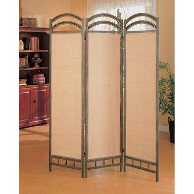 """Wildon Home ® 72"""" x 56"""" Oakville Folding 3 Panel Room Divider"""