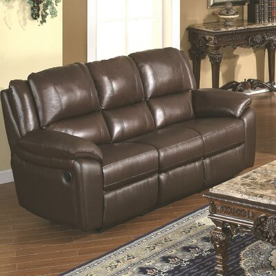 Baxtor Leather Reclining Sofa by Wildon Home ®