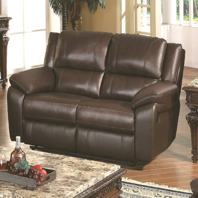 Baxtor Leather Reclining Loveseat by Wildon Home ®