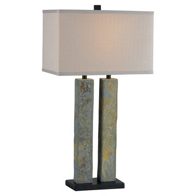 """Wildon Home ® Barre 30.38"""" H Table Lamp with Rectangular Shade"""