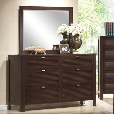Amherst 6 Drawer Dresser with Mirror by Wildon Home ®