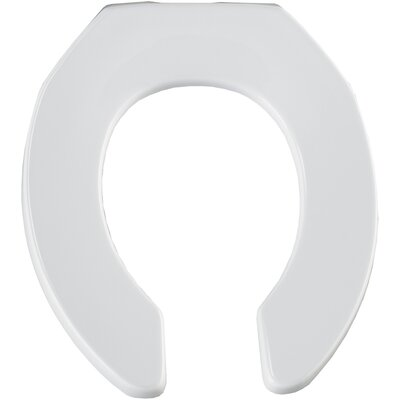 Bemis Commercial Open Front Solid Plastic Round Toilet Seat