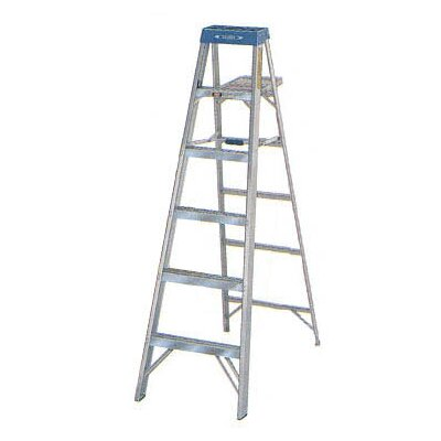 Werner 6 ft Aluminum Step Ladder with 225 lb. Load Capacity