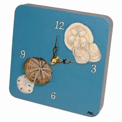 Travel and Leisure Seashells Tiny Times Clock by Lexington Studios