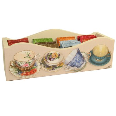 Lexington Studios Tea Cups Caddy with Dividers