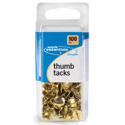WorkEssentials 100 Count Gold Thumb Tack