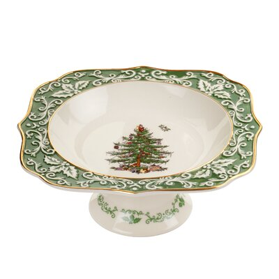 Christmas Tree Embossed Footed Bowl by Spode