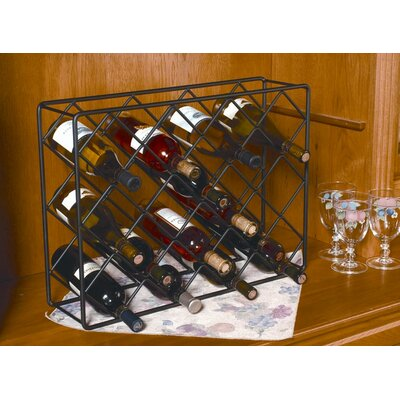 18 Bottle Tabletop Wine Rack by J & J Wire