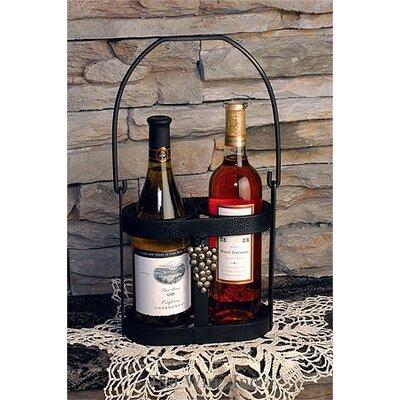 2 Bottle Wine Bottle Caddy by J & J Wire