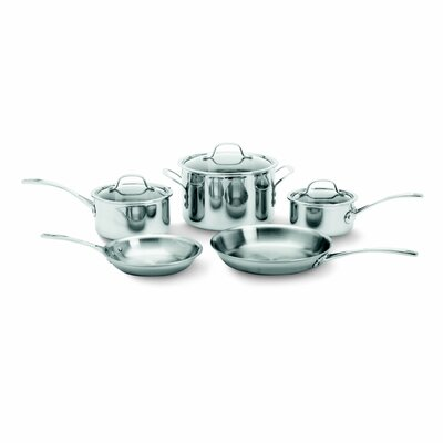 Try-Ply Stainless Steel 8 Piece Cookware Set by Calphalon