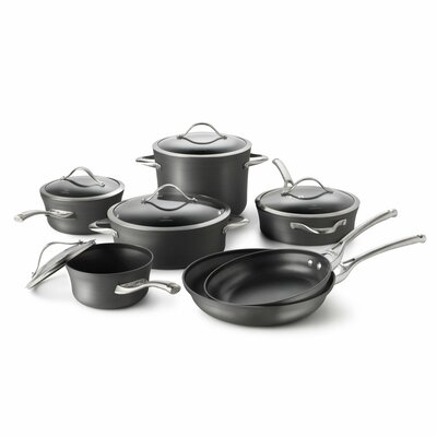 Contemporary Nonstick 12-Piece Cookware Set by Calphalon