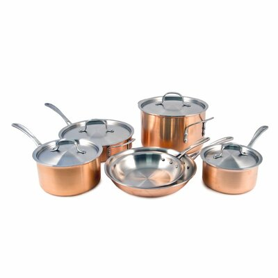 Try Ply Stainless Steel 10 Piece Cookware Set by Calphalon