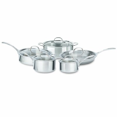 Tri-Ply Stainless Steel 10-Piece Cookware Set by Calphalon