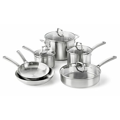 Stainless Steel 10 Piece Cookware Set by Calphalon