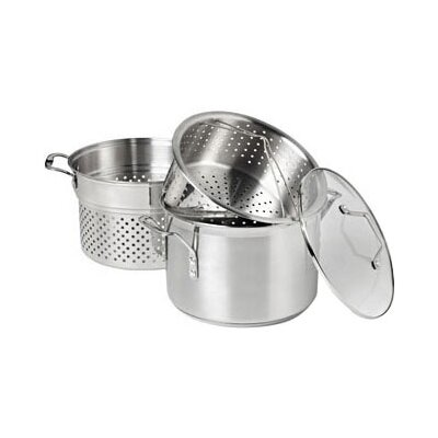 Simply Stainless Steel 8 Qt. Multi-Pot with Steamer & Pasta Insert by Calphalon