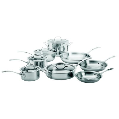 Try-Ply Stainless Steel 13 Piece Cookware Set by Calphalon