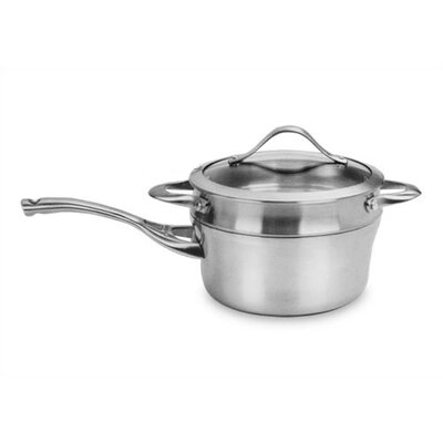 Contemporary Stainless Steel 2.5-qt. Saucepan and Double Boiler Set with Lid by Calphalon