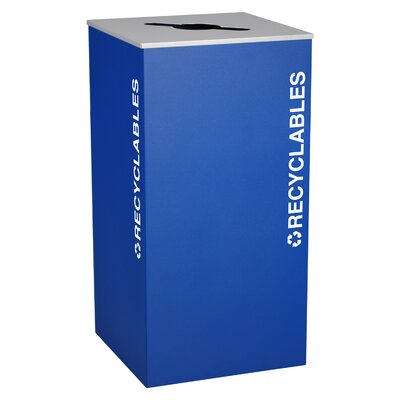 Ex-Cell Kaleidoscope XL Series 36-Gal Indoor Industrial Recycling Bin