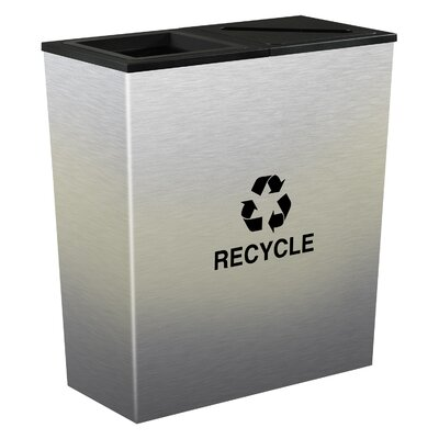 Ex-Cell Metro 36-Gal Indoor Multi Compartment Recycling Bin