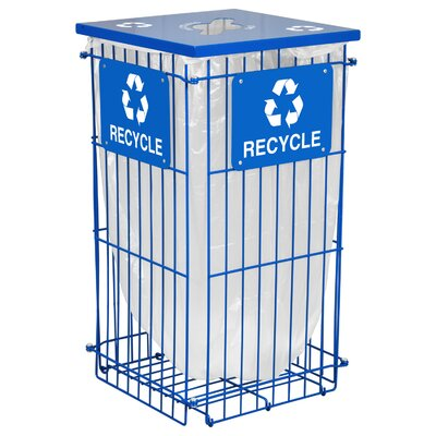 Ex-Cell Clean Grid 45-Gal Outdoor Industrial Recycling Bin