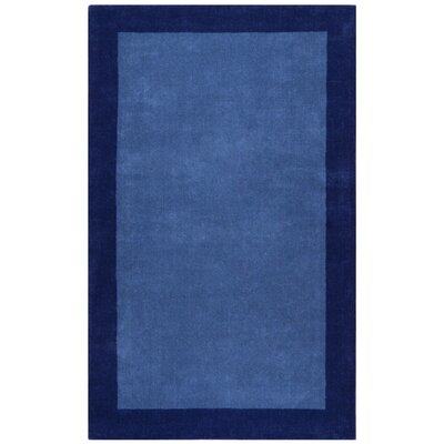 Pulse Blue Border Rug by St. Croix