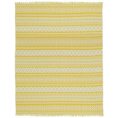 Complex Hand-Loomed Yellow Area Rug by St. Croix