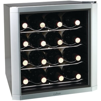 16 Bottle Single Zone Freestanding Wine Refrigerator by Culinair