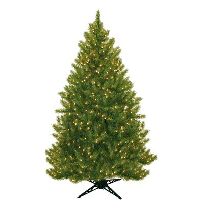 General Foam Plastics 6.5' Evergreen Fir Artificial Christmas Tree with 450 Clear Lights