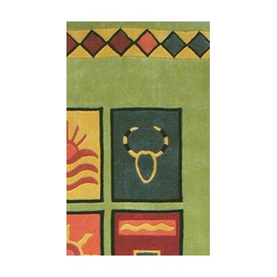 American Home Rug Co. Bright Lime Sizzle Area Rug