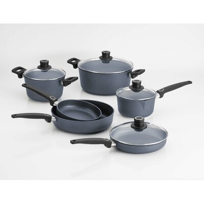 Diamond Plus 10-Piece Induction Cookware Set by Woll Cookware