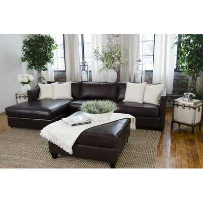 Urban Top Grain Leather Sectional by Elements Fine Home Furnishings