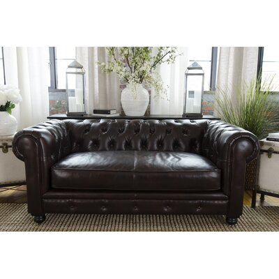 Estate Top Grain Leather Loveseat by Elements Fine Home Furnishings