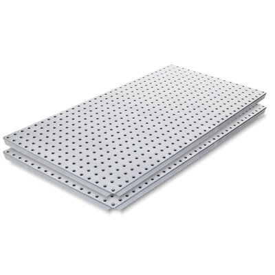 Alligator Board Galvanized Steel Pegboard Panel with Flange