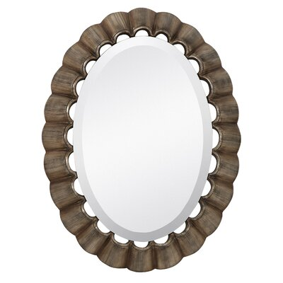 Majestic Mirror Traditional Oval Bevel Wall Mirror