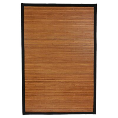 Burnt Bamboo Area Rug by Oriental Furniture