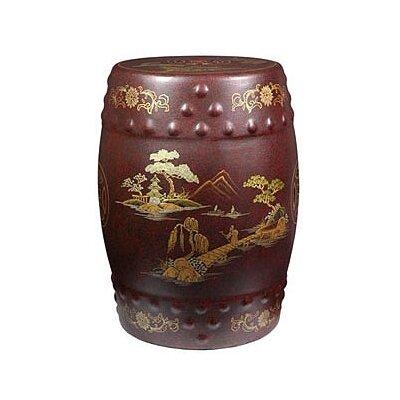 Oriental Furniture Imperial Heavens Garden Stool