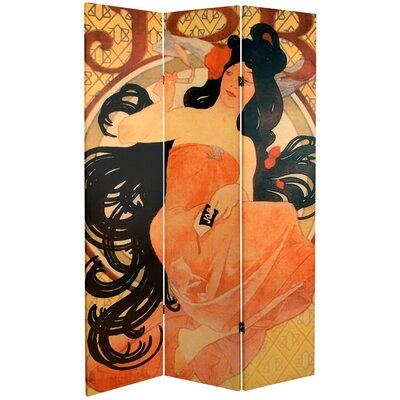 "Oriental Furniture 70.88"" x 47.25"" Confections 3 Panel Room Divider"