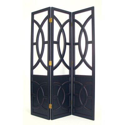 "Oriental Furniture 76"" x 54"" Florence 3 Panel Room Divider"