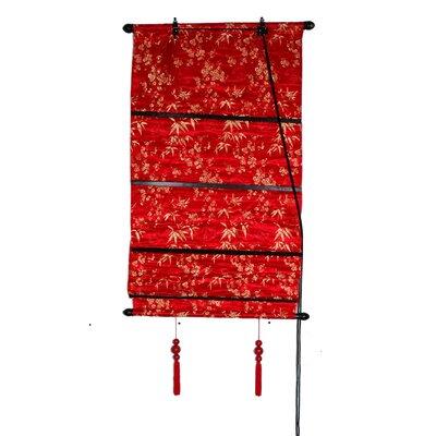 Leaves Shang Hai Tan Roman Shade Product Photo
