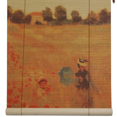 Poppies Bamboo Roller Blind Product Photo