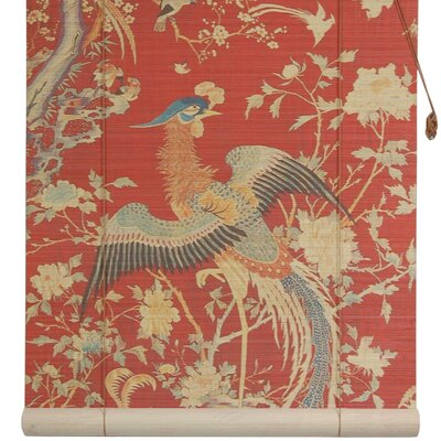 Red Phoenix Bamboo Roller Blind by Oriental Furniture