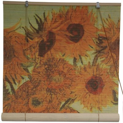 Sunflowers Bamboo Roller Blind by Oriental Furniture