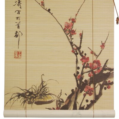 Sakura Blossom Bamboo Roller Blind by Oriental Furniture