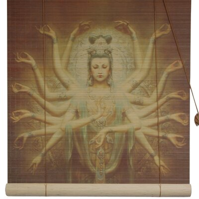 Thousand Arm Kwan Yin Bamboo Roller Blind Product Photo