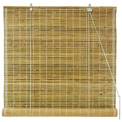 Burnt Bamboo Roller Blind by Oriental Furniture